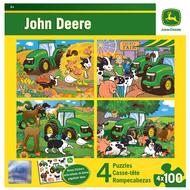 MasterPieces John Deere Puzzle  4 x 100pcs