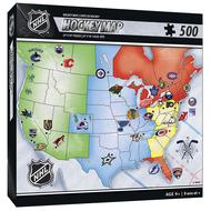 MasterPieces NHL Hockey Map Puzzle 500pcs