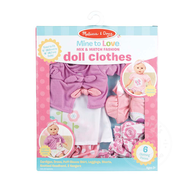 "Melissa & Doug Melissa & Doug Mine to Love Mix & Match Fashion 12"" Doll Clothes"