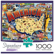 Buffalo Games & Puzzles Buffalo Signature Collection - Vintage America Puzzle 1000pcs