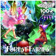 Ceaco Ceaco Forest Fairies Glitter Puzzle 100pcs