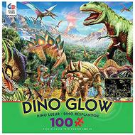 Ceaco Ceaco Dino Party Dino Glow Puzzle 100pcs