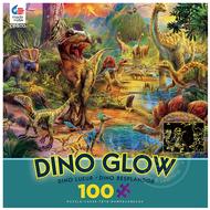 Ceaco Ceaco Dino Landscape Dino Glow Puzzle 100pcs