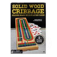 Folding Wood Cribbage 3 Track Coloured