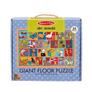 Melissa & Doug Melissa & Doug Natural Play ABC Animals Floor Puzzle 35pcs