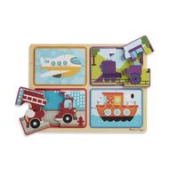Melissa & Doug Melissa & Doug Natural Play Ready, Set, Go Wooden Jigsaw Puzzles 4 x 4pcs