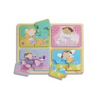 Melissa & Doug Melissa & Doug Natural Play Little Princesses Wooden Jigsaw Puzzles 4 x 4pcs