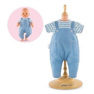 "Corolle Corolle Mon Premier Bebe Striped T-Shirt & Oeralls 12"" Doll Outfit"