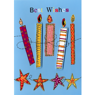 Best Wishes - Candles Card