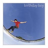Silver Edition- Birthday Boy Skateboard Card