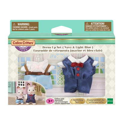 Calico Critters Calico Critters Town Dress Up Set, Navy & Light Blue