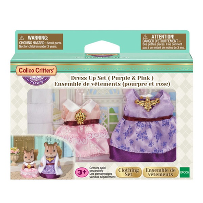 Calico Critters Calico Critters Town Dress Up Set, Purple & Pink