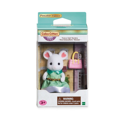 Calico Critters Calico Critters Town Girl Series Stephanie Marshmallow Mouse