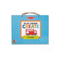 Melissa & Doug Melissa & Doug Play, Draw, Create Reusable Drawing & Magnet Kit - Trucks