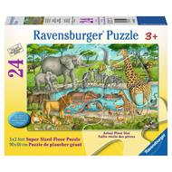 Ravensburger Ravensburger Watering Hole Delight Floor Puzzle 24pcs