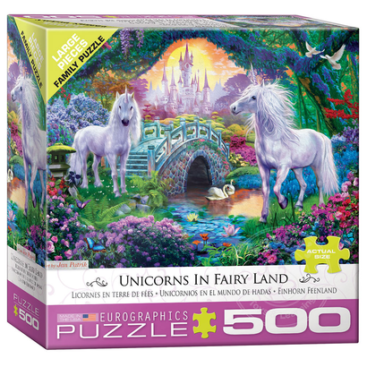 Eurographics Eurographics Unicorns in Fairy Land Large Pieces Family Puzzle 500pcs