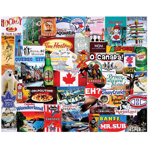 White Mountain Puzzles White Mountain I Love Canada Puzzle 1000pcs