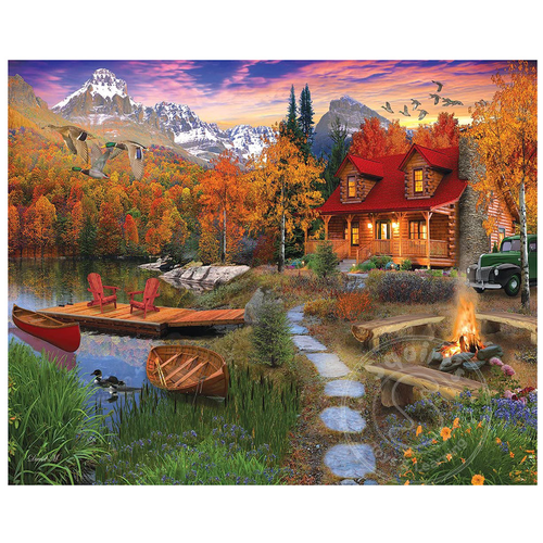 White Mountain Puzzles White Mountain Cozy Cabin Puzzle 1000pcs