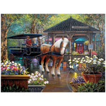 White Mountain Puzzles White Mountain City Market Puzzle 1000pcs