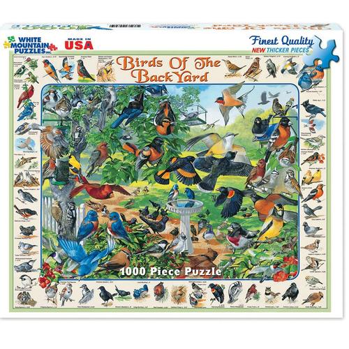 White Mountain Puzzles White Mountain Birds of the Backyard Puzzle 1000pcs