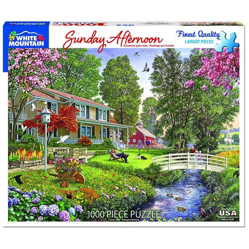 White Mountain Puzzles White Mountain Sunday Afternoon Puzzle 1000pcs