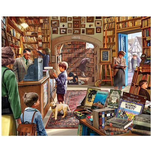 White Mountain Puzzles White Mountain Old Book Store Puzzle 1000pcs