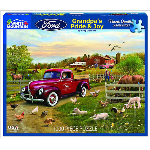 White Mountain Puzzles White Mountain Grandpa's Pride & Joy Puzzle 1000pcs