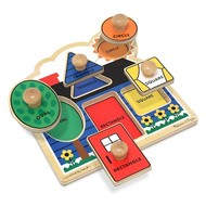 Melissa & Doug Melissa & Doug First Shapes Jumbo Knob Puzzle