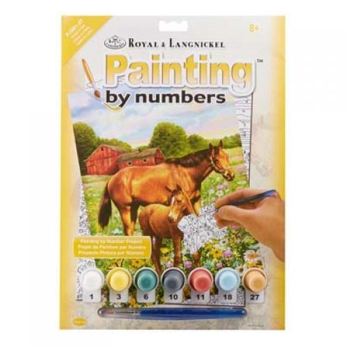 Royal & Langnickel Royal & Langnickel Painting by Numbers Horses in Field