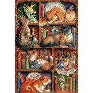 Cobble Hill Puzzles Cobble Hill Feline Bookcase Puzzle 2000pcs