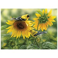 Cobble Hill Puzzles Cobble Hill Sunflowers and Goldfinches Puzzle 1000pcs