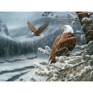 Cobble Hill Puzzles Cobble Hill Winter Eagles Puzzle 500pcs