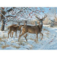 Cobble Hill Puzzles Cobble Hill Winter Deer Puzzle 500pcs