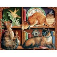 Cobble Hill Puzzles Cobble Hill Cat Shelf Puzzle 500pcs