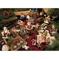 Cobble Hill Puzzles Cobble Hill Christmas Ornaments Easy Handling Puzzle 275pcs
