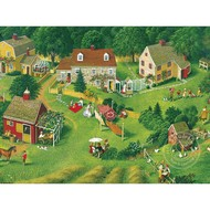 Cobble Hill Puzzles Cobble Hill Back Yards Easy Handling Puzzle 275pcs