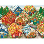 Cobble Hill Puzzles Cobble Hill Gingerbread Houses Family Puzzle 350pcs