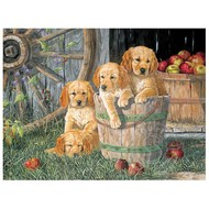 Cobble Hill Puzzles Cobble Hill Puppy Pail Family Puzzle 400pcs