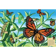 Cobble Hill Puzzles Cobble Hill Life Cycle of a Monarch Butterfly Floor Puzzle 48pcs