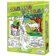 Cobble Hill Puzzles Cobble Hill Coloring Puzzles Horses 3 x 24pcs