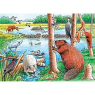 Cobble Hill Puzzles Cobble Hill The Beaver Pond Tray Puzzle 35pcs
