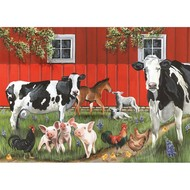 Cobble Hill Puzzles Cobble Hill Red Barn Farm Tray Puzzle 35pcs