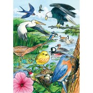Cobble Hill Puzzles Cobble Hill North American Birds Tray Puzzle 35pcs
