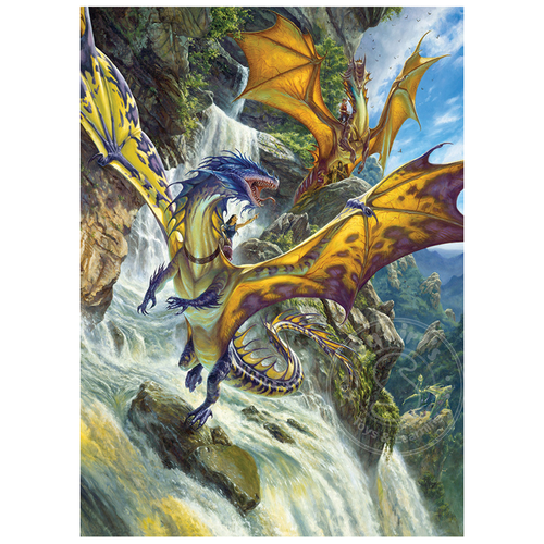 Cobble Hill Puzzles Cobble Hill Waterfall Dragons Puzzle 1000pcs