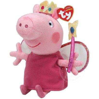 "TY TY Beanie Babies Peppa Pig Princess 8"" Reg"