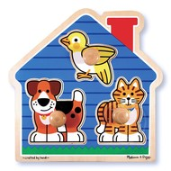 Melissa & Doug Melissa & Doug House Pets Jumbo Knob Puzzle