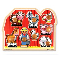 Melissa & Doug Melissa & Doug Farm Friends Jumbo Knob Puzzle Large