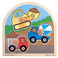 Melissa & Doug Melissa & Doug Construction Jumbo Knob Puzzle_