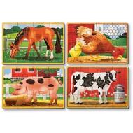 Melissa & Doug Melissa & Doug Farm Wooden Jigsaw Puzzles 4 - 12pcs in a Box