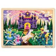 Melissa & Doug Melissa & Doug Fairy Fantasy Wooden Tray Puzzle 48pcs